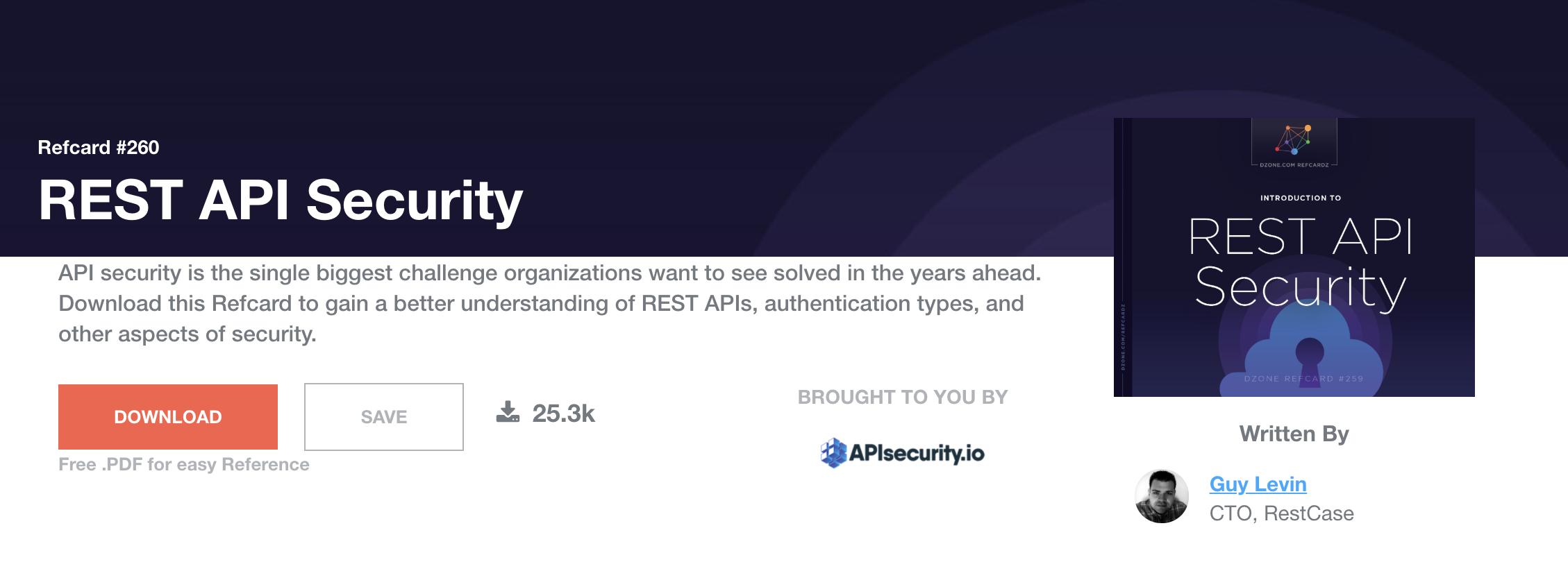 REST API security